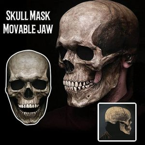 Full Head Skull Mask With Movable Jaw