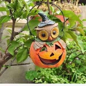 Pumpkin Head Owl Ornament