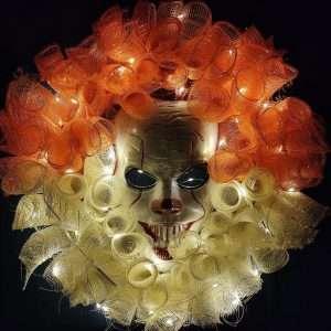 Mask Horror Halloween Glowing Garland