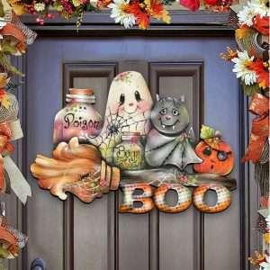 Halloween Wooden Pumpkin Decoration