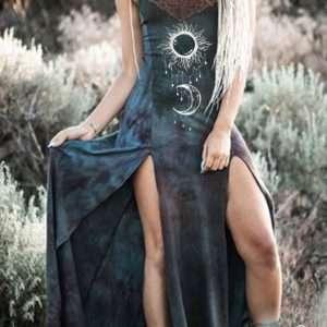Gothic Medieval V-neck Costume