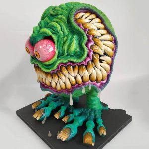 Angry Big Mouth Monster Figurine