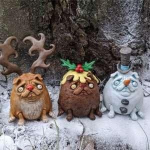 Pumpkin Pug Dog Doll Ornaments